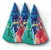 6 Chapéus Cone festa PJ Masks