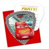 6 Convites recortados Disney Cars 3