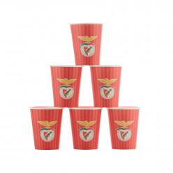 6 Copos Papel Benfica