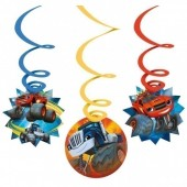 6 Espirais Decorativas Blaze and the Monster Machines