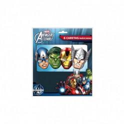 6 Máscaras dos Avengers/Vingadores