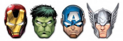 6 Mascaras festa Mighty Avengers