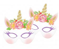6 Máscaras Festa Unicórnio