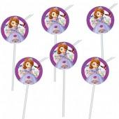 6 Palhinhas Princesa Sofia Disney
