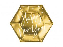 6 Pratos Dourados Ano Novo