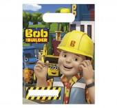 6 sacos brinde festa Bob Construtor