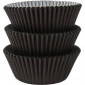 75 Forminhas Pretas Cupcake - 50mm