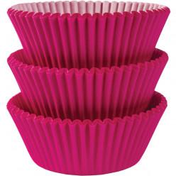 75 Forminhas Rosa Fúscia Cupcake - 50mm
