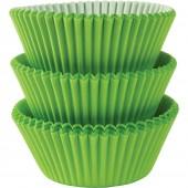 75 Forminhas Verdes Kiwi Cupcake - 50mm