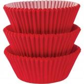 75 Forminhas Vermelhas Cupcake - 50mm