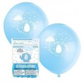 8 Balões Azuis Baby Shower