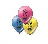 8 balões Minnie de 11` cores sortidas