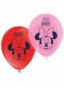 8 Balões  Minnie Mouse