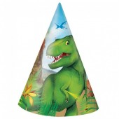 8 Chapéus Festa Dinossauros