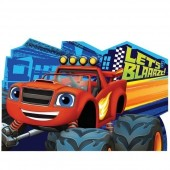 8 Convites Blaze e as Monster Machines Lets Blaze