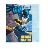 8 Convites Festa Batman