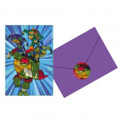 8 Convites Festa Tartarugas Ninja TMNT