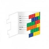 8 Convites Lego Party