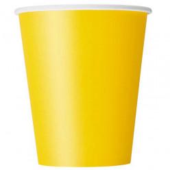 8 Copos de Papel Amarelos