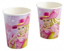8 Copos Papel Barbie e as Três Mosqueteiras