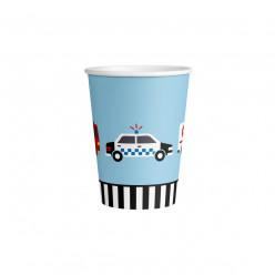 8 Copos Papel Carros On The Road 250ml