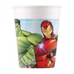 8 Copos Papel Festa Avengers Mighty
