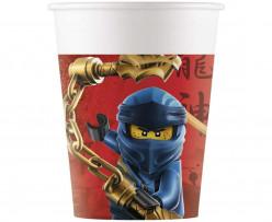 8 Copos Papel Festa Lego Ninjago
