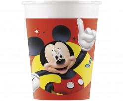 8 Copos Papel Mickey Pals at Play