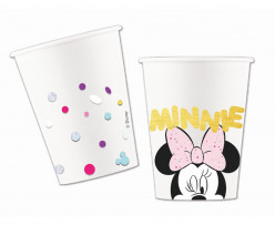 8 Copos Papel Minnie Party Gem