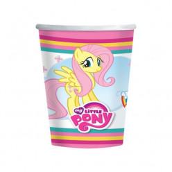 8 Copos Papel My Little Pony Rainbow