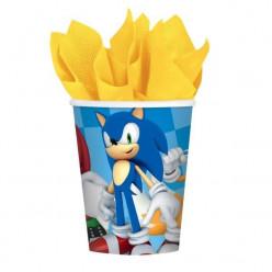 8 Copos Papel Sonic