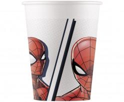 8 Copos Papel Spiderman Superhero