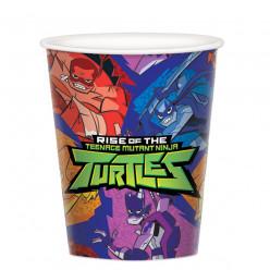 8 Copos Papel Tartarugas Ninja TMNT