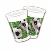 8 Copos plásticos Festa Futebol 200ml