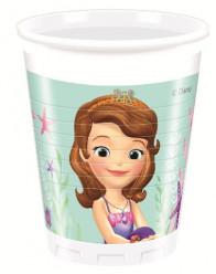 8 Copos Princesa Sofia Sereia