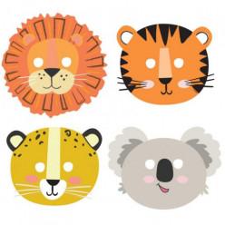 8 Máscaras Animais da Selva Get Wild Safari