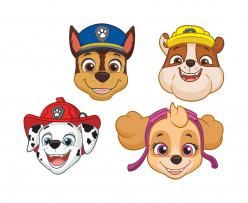 8 Máscaras Festa Patrulha Pata