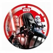 8 Pratos 20 cm Star Wars Final Battle