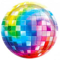 8 Pratos Anos 70 Disco Fever 26cm