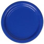 8 Pratos Azul Royal 18 cm