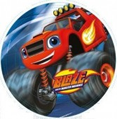 8 Pratos Blaze Monster Machines 23cm
