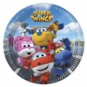 8 Pratos dos Super Wings 19.5cm