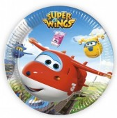 8 Pratos dos Super Wings 23cm