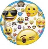 8 Pratos Emoji 17cm