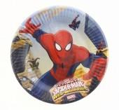 8 Pratos Festa 20 cm Spiderman Web Warriors