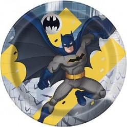 8 Pratos Festa Batman New 22cm