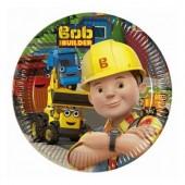 8 pratos Festa Bob Construtor 19.5cm
