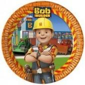 8 pratos Festa Bob Construtor 23cm