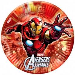 8 Pratos festa do Vingador Iron Man 23cm