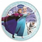 8 Pratos festa Frozen blue 23 cm
